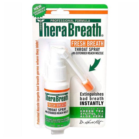 TheraBreath Plus Oral Fresh Breath Throat Spray 1 oz - Mr Bundle