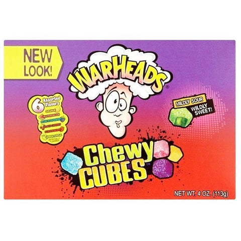 Warheads Chewy Cubes Theatre Box 113g - Mr Bundle