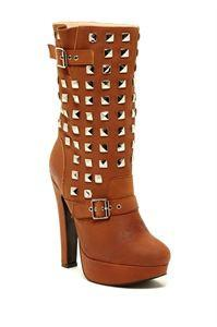 Genuine Leather Studs Boots