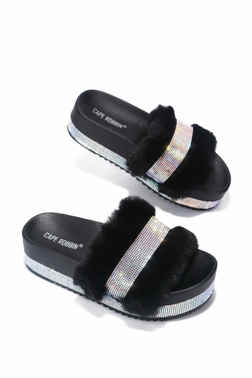 Columbia Sweet Haven Faux Fur Sandals