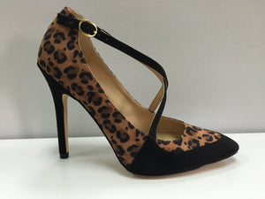 Leopard Combo Vegan Pump Shoes