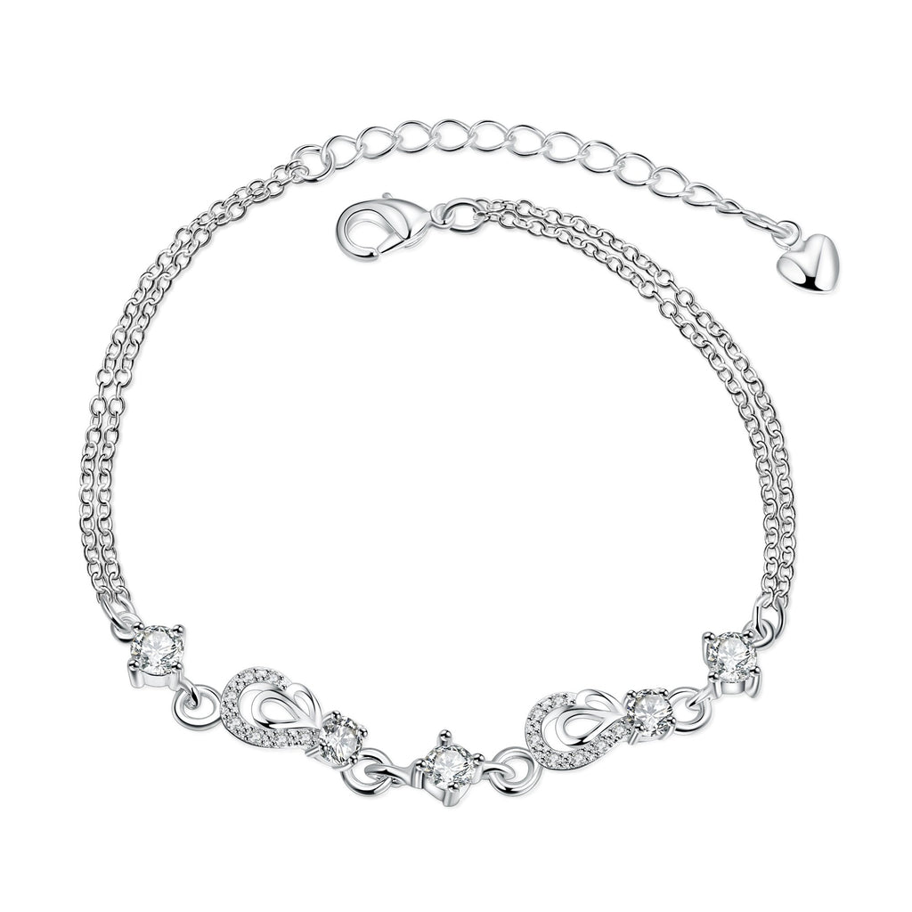 Crystal 18K White Gold Plated Bracelet