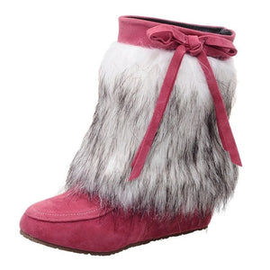Women Suede Plush Winter Boots