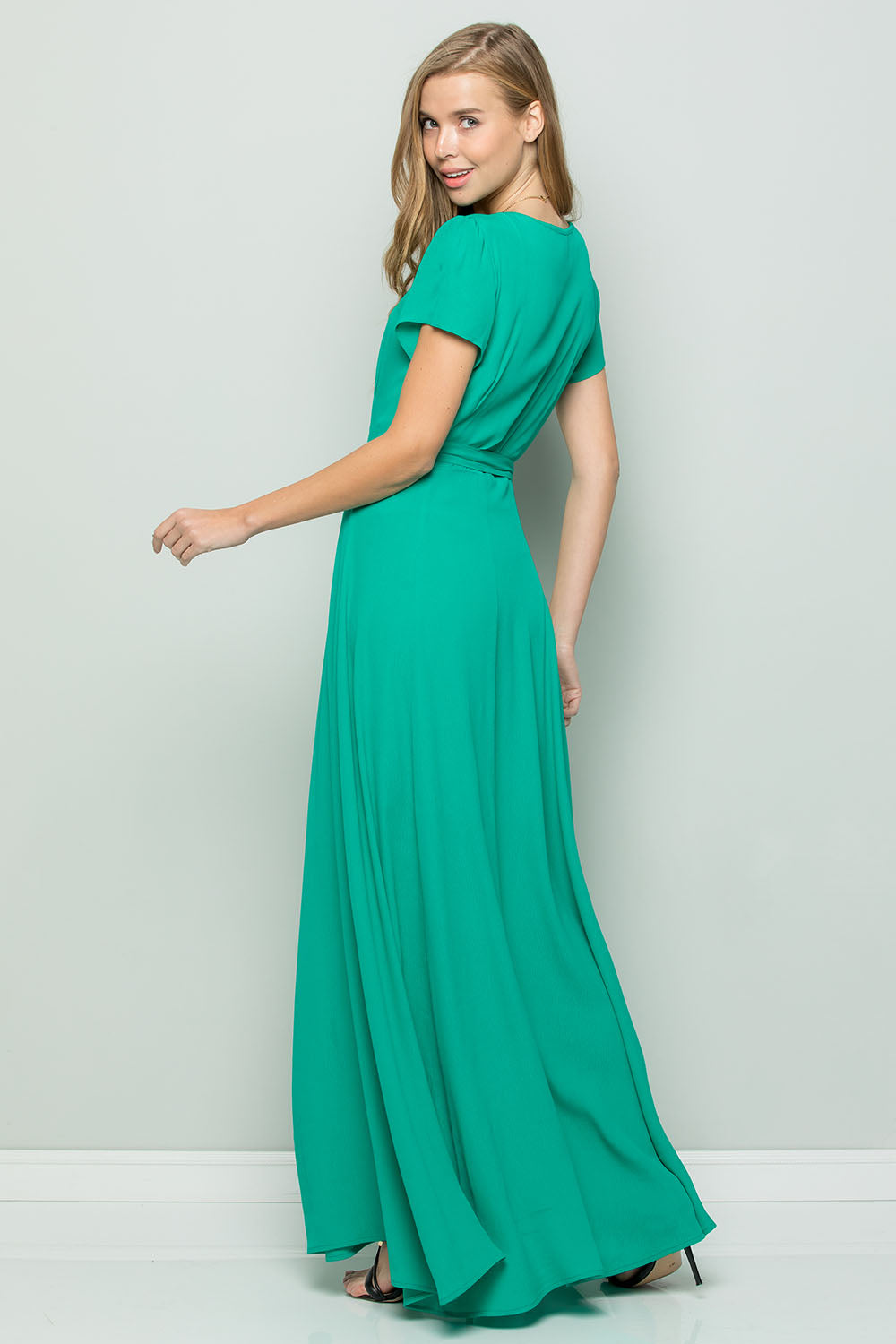 Glam Flowy Maxi Wrap Dress