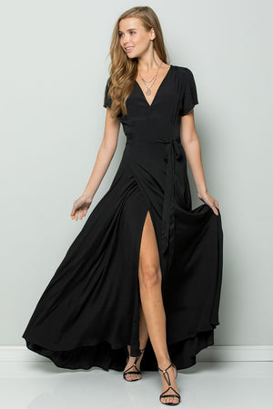 Black Flowy Maxi Dress