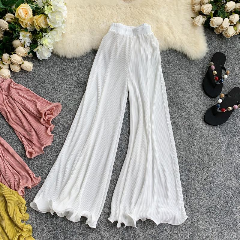 Glam Retro Women Wide Leg Pants