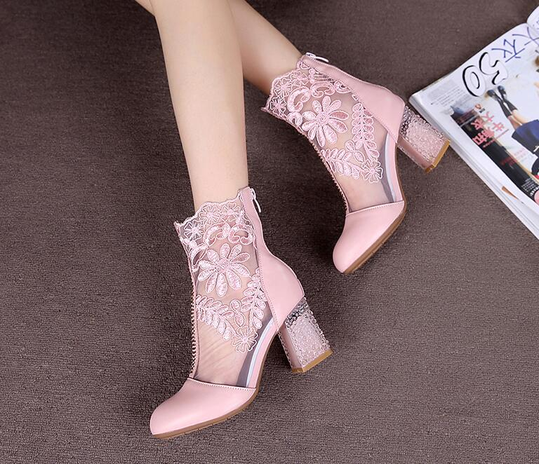 Glam Genuine Cow Leather Lace Women Shoes