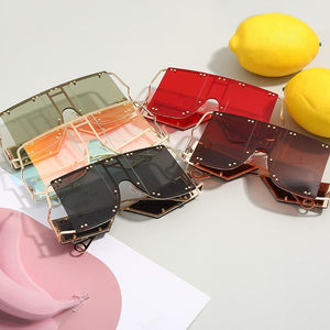 Glam Over-Sized Square Sunglasses