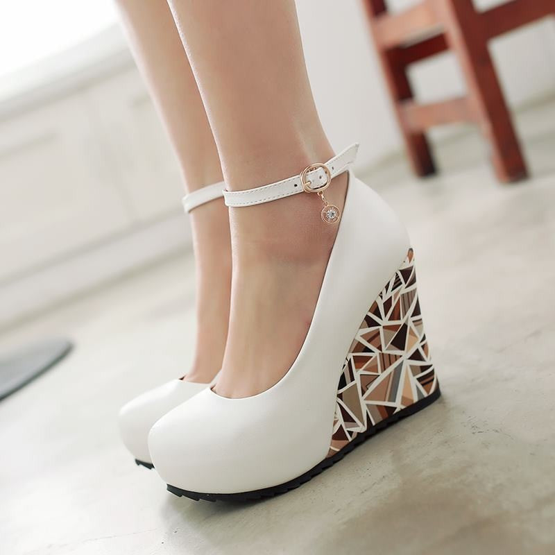 Rhinestone Wedge Shoes