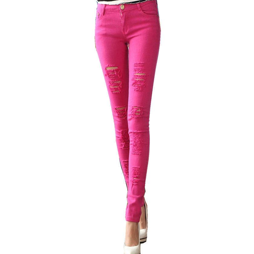 Women's Ripped Stretch Pants