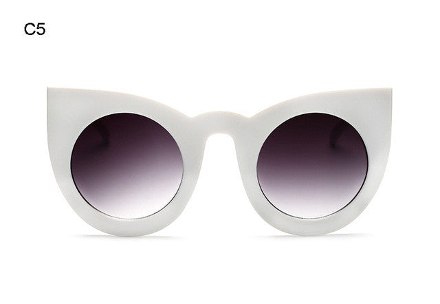 Eastside Glam Big Frame Mirror Chunky Cat Eye Sunglasses