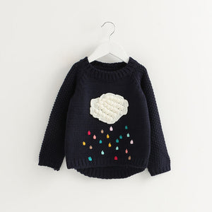 Winter Pullover Children Knitted Sweaters Dress