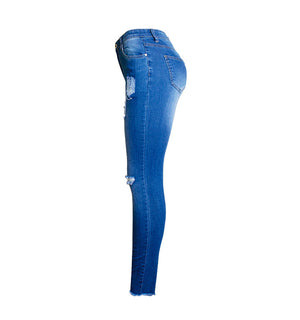 Glam Women Denim Two Tone Jeans
