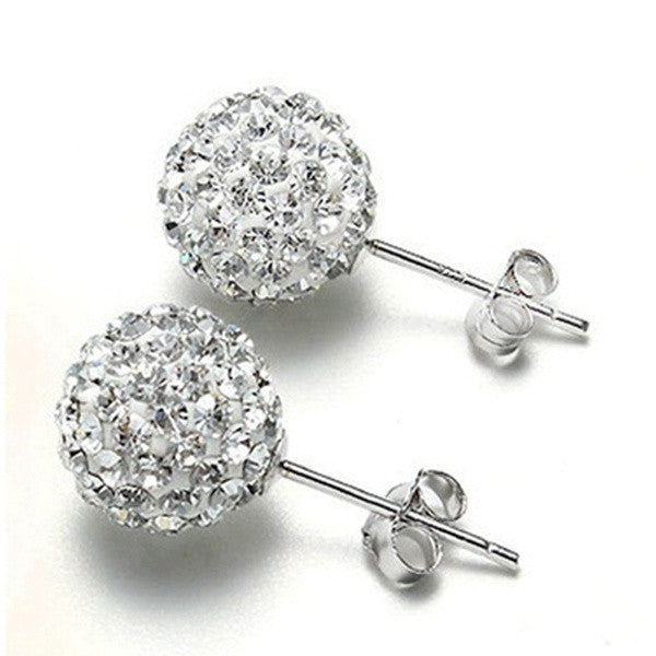 Glam Crystal Rhinestone Ball Stud Earrings