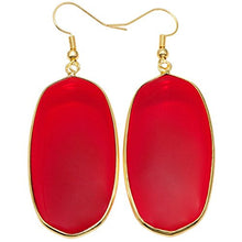 Red Pyrope Dangler earrings