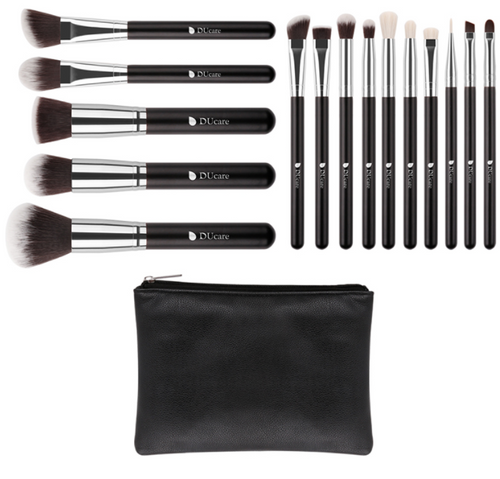 15 Piece make up brushes with bag