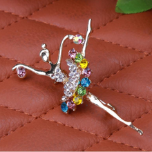 Crystal brooches (Designs-Ballerina and Music note)