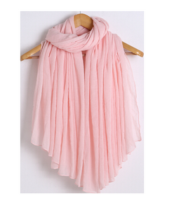 Linen solid color long stole/scarf- 6 colors