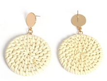 Handmade Cane round earrings
