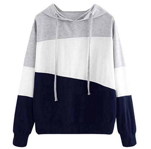 Hoodie tri striped - 2 fun colors