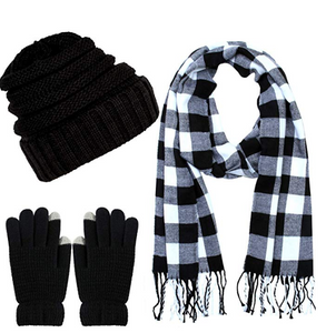 Warm set- Cap gloves scarf