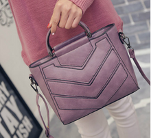 Purple V- Design messenger bag (Small)