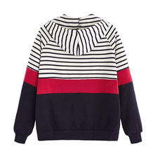 Stripes to Solid hoodie