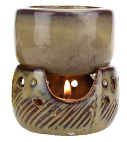 Thai style split oil/ candle holder
