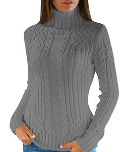 Turtleneck solid pullover- 4 colors