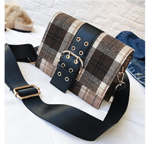 Winter stripes flap ladies mini bag