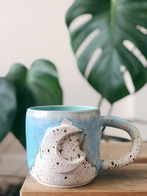 Blue Beach Moon Mug 1