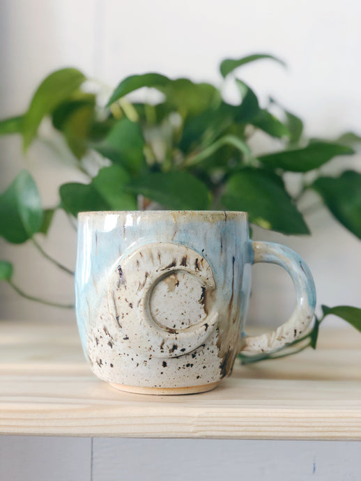 Blue Beach Moon Mug 2