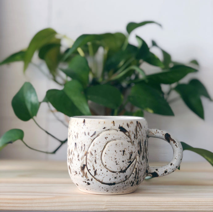 Coffee Grounds Moon Mug