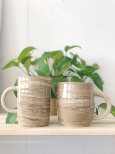 Coffee Marble Speckle Mugs