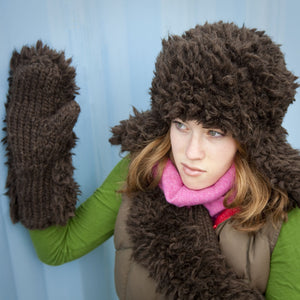 Fur Hat and Mittens #115