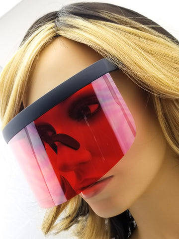 Face shield red