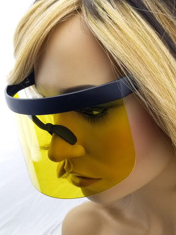 Face Shield, face mask yellow