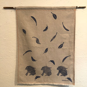 Tea Towel - Linen: 3 Rabbits