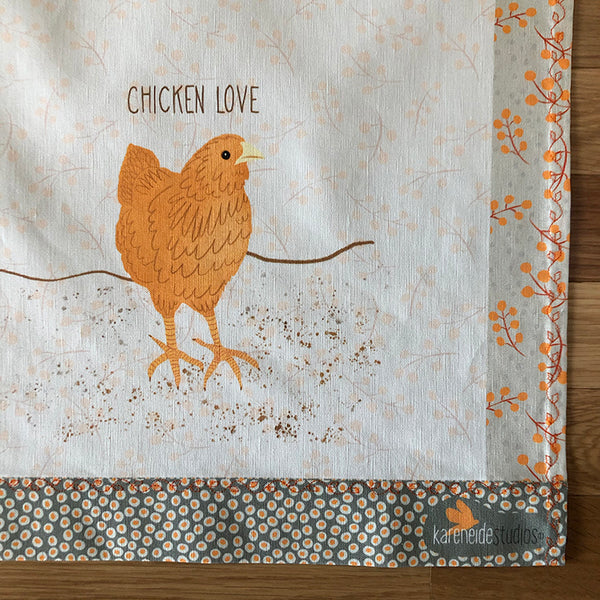 Tea Towel - 50/50 Cotton/Linen: Chicken Love