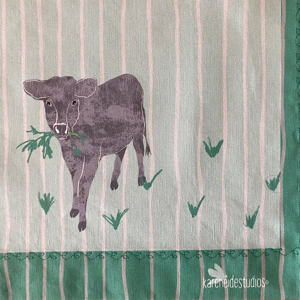 Tea Towel - 50/50 Cotton/Linen: Peter's Cows
