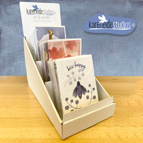Free Tiered Display for 60-90 Greeting Cards