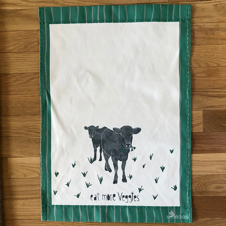 Tea Towel - 50/50 Cotton/Linen: Eat More Veggies