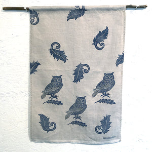 Tea Towel - Linen:  3 Owls