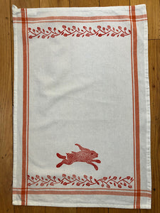 Tea Towel - Running Rabbit