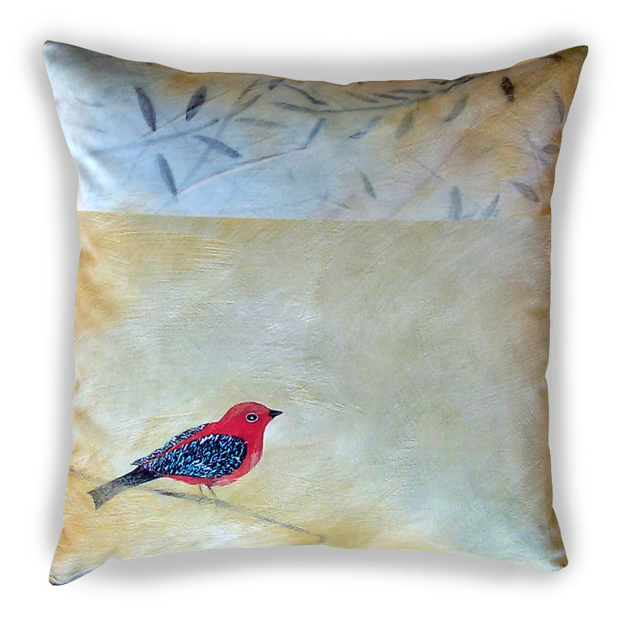 Red Bird Pillow Cover