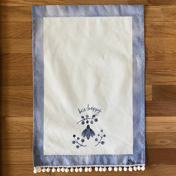 Copy of Tea Towel - Cotton/Linen: Bee Happy