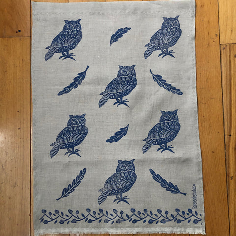 Tea Towel - Woodland Owls