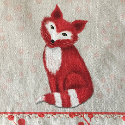 Tea Towel - 50/50 Cotton/Linen: Foxy Fox
