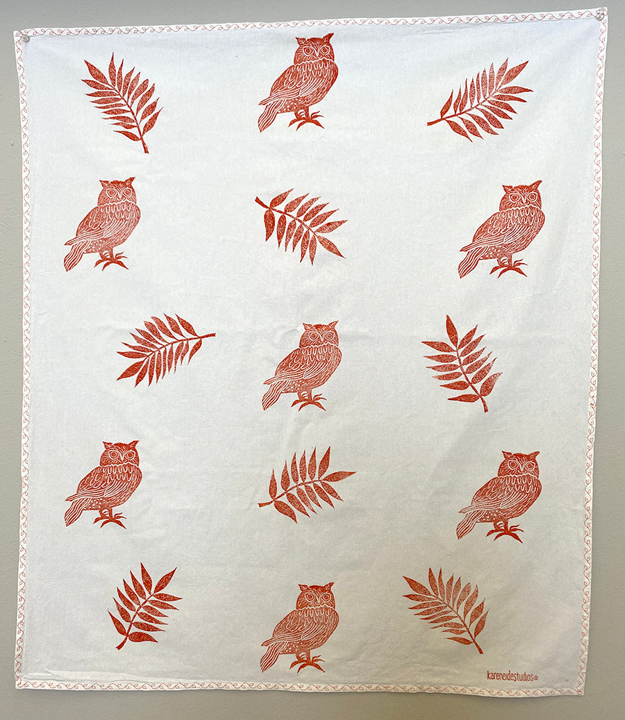 Tea Towel - 7 Owls