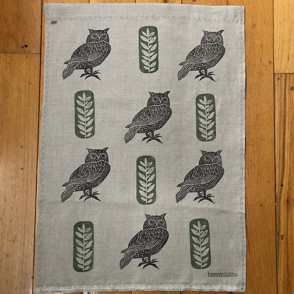 Tea Towel - Tree Owls